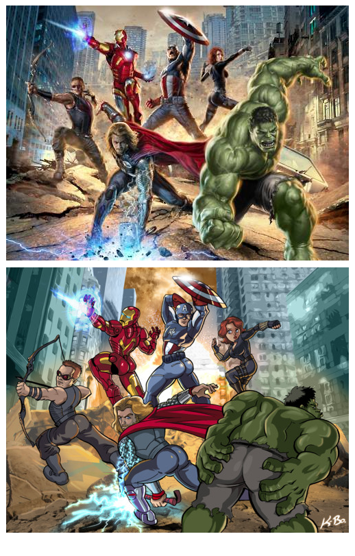 THE AVENGERS - SHOWING OFF THEIR ASSES - BECHDEL TEST - SEXISIM