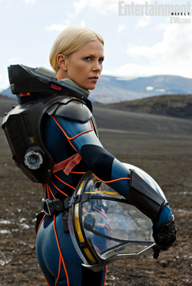 CHARLIZE THERON - SEXY ASS SHOT- PROMETHEUS